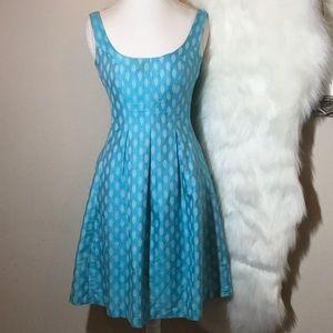 NINE WEST Aqua Fit and Flare Dress. Size 6 EUC